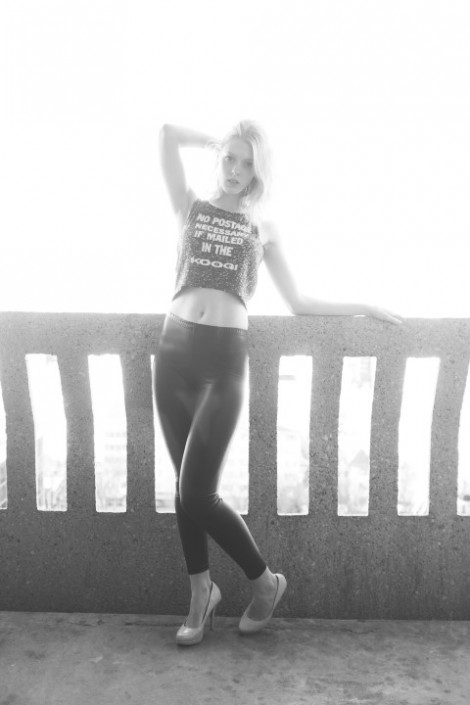 Danielle Goudreau of Mode Models x100s fashion shoot